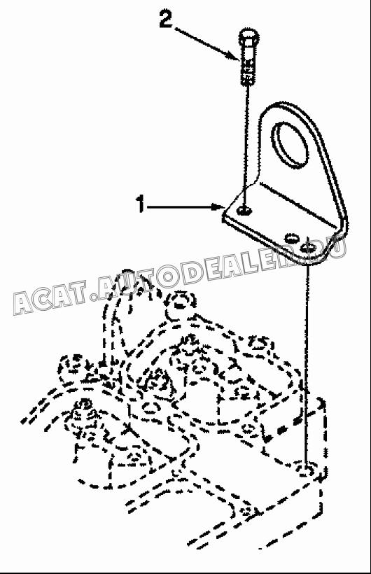 Bracket, lifting A3960369 для DongFeng DFA 1063