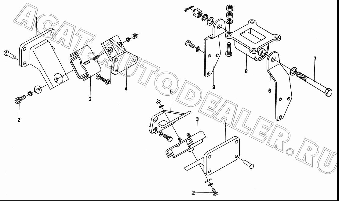 Bracket, engine front mounting 10Q01-01016-C для DongFeng DFA 1063