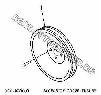 PULLEY, DRIVE CU3919624 для Cummins 6CT 8.3