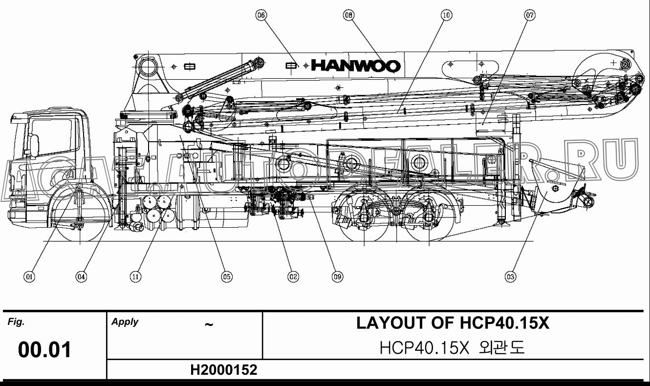 DELIVERY PIPE GROUP 40.15X10 для Hanwoo HCP40.15X