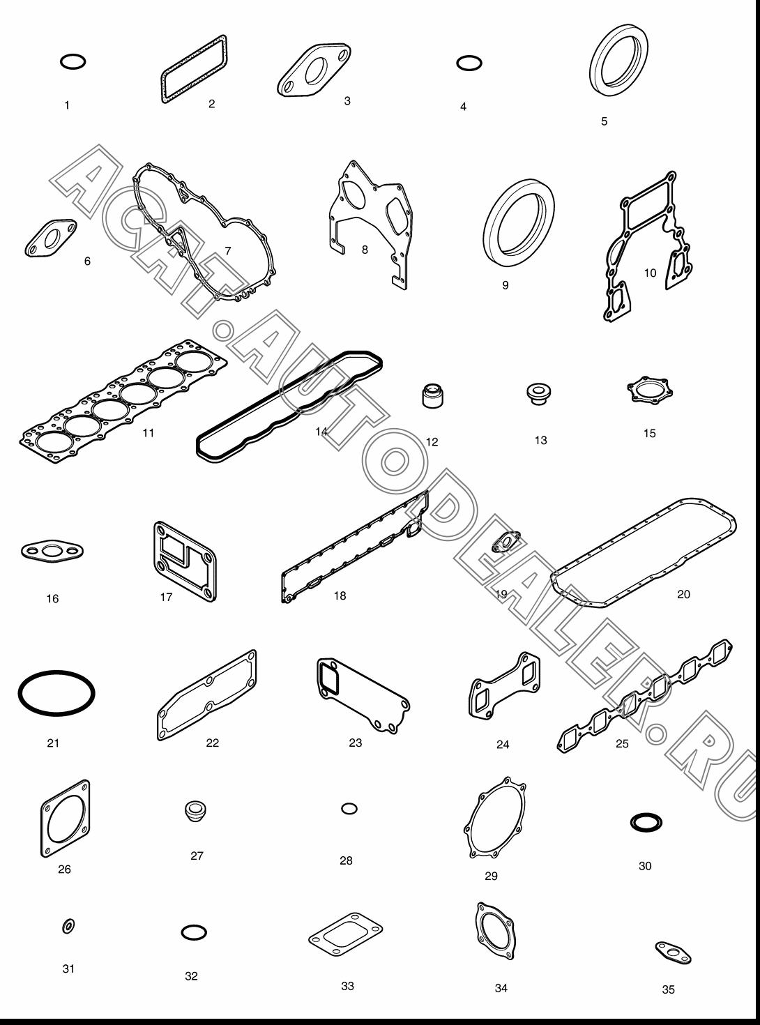 OVER HAUL GASKET KIT-ALL 65.99601-8027 для Doosan DX225LCA
