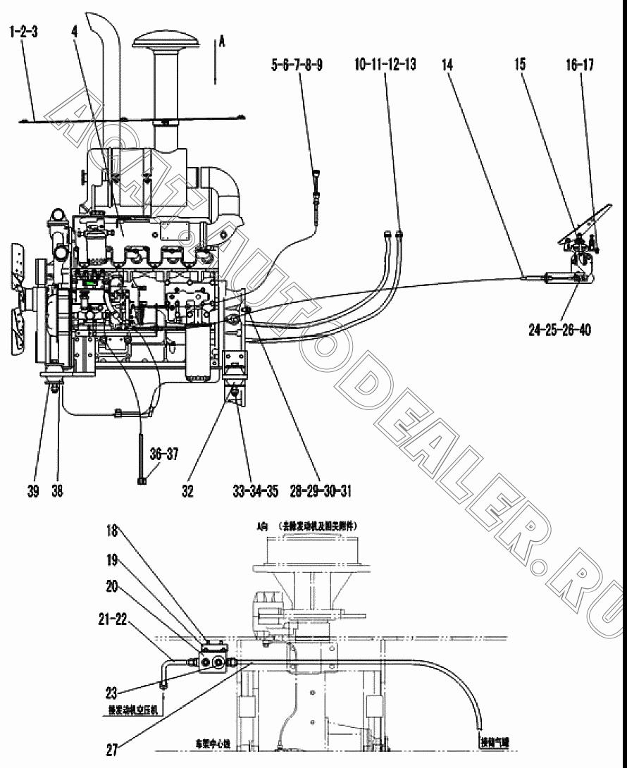 DIESEL ENGINE ASSEMBLY YC4D80-T10(D7019) 4110000560 для SDLG LG918