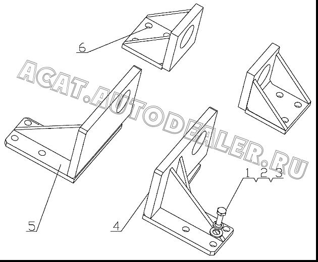 FRONT RIGHT BRACKET D7024-1001080 4110000560351 для SDLG LG918